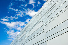 Modern building and clouds Royalty Free Stock Image