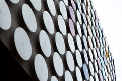 Modern Building Coated With Metallic Disc Pattern Royalty Free Stock Photo