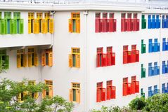 Modern building with colorful windows Stock Photo