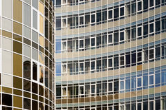 Modern building consisting of glass, windows and lines. Royalty Free Stock Photos