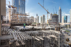 Modern building constraction site works. Stock Photo