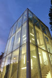 Modern building. Constructed of glass in Rome Royalty Free Stock Photography