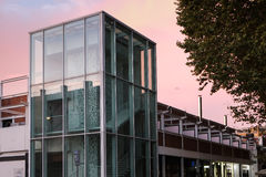 Modern building. Constructed of glass in Rome Stock Image