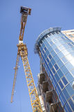 Modern building construction site. With the crane Stock Photo