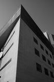 Modern building corner black white Stock Image