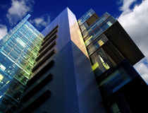 Modern building of court, Manchester, UK. Futuristic building of court, Manchester, England, UK Stock Image