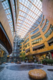 Modern building courtyard, The Atrium, Victoria, Stock Photos