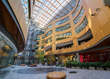 Modern building courtyard, The Atrium, Victoria, Royalty Free Stock Photo