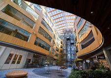 Modern building courtyard, The Atrium, Victoria, Stock Image