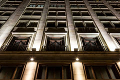 Modern building deatil at night Stock Photography