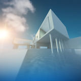 Modern building defocused Royalty Free Stock Photography