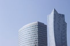 Modern building downtown, architecture in Warsaw Stock Image