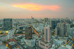 Modern building Downtown business district of Bangkok Stock Images