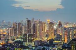 Modern building Downtown business district of Bangkok Stock Photos