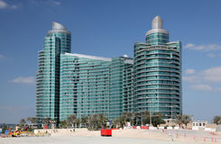 Modern building in Dubai Festival City Royalty Free Stock Photos
