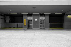 Modern building with an elevator Royalty Free Stock Image