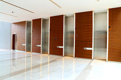 Modern building elevator lobby Stock Images