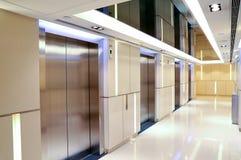 Modern building elevator lobby Stock Image