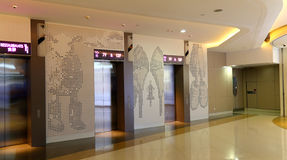 Modern building elevator lobby Royalty Free Stock Photos