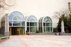 Modern building entrance Royalty Free Stock Images