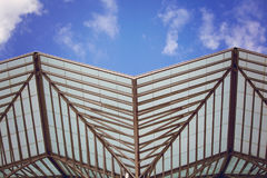 Modern building exterior . Detail of modern architecture Royalty Free Stock Photography
