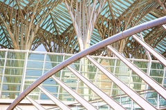 Modern building exterior . Detail of modern architecture Stock Photo