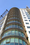 Oval glass building Royalty Free Stock Photography