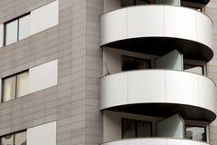Modern building. External facade of a modern building. Barcelona (Spain). A modern external facade of a building in Barcelona, Spain. Shades of gray and white Stock Photo