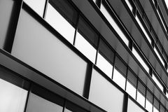 Modern building facade abstract fragment Royalty Free Stock Images