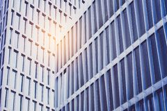 Modern building facade in  business district.  stock photography