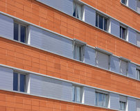 Modern building facade with ceramic tiles Royalty Free Stock Photos