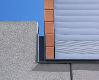 Modern building facade detail with blue sky Stock Photography