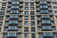 Modern building facade exterior, office, construction, urban architecture Royalty Free Stock Photos