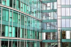 Modern building. Facade, the external wall, is not only an element separating the building interior from the external world Stock Photography