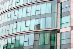 Modern building. Facade, the external wall, is not only an element separating the building interior from the external world Stock Photo