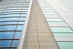 Modern building. Facade, the external wall, is not only an element separating the building interior from the external world Stock Images