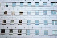 Modern building. Facade, the external wall, is not only an element separating the building interior from the external world Royalty Free Stock Photos