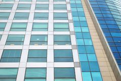 Modern building. Facade, the external wall, is not only an element separating the building interior from the external world Royalty Free Stock Photography
