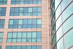 Modern building. Facade, the external wall, is not only an element separating the building interior from the external world Stock Photos