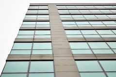 Modern building. Facade, the external wall, is not only an element separating the building interior from the external world Royalty Free Stock Photo