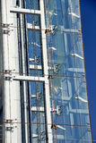 Modern building facade, glass and steel Stock Photos