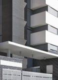 Modern building facade in grey tones Stock Image