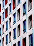 Modern building facade. The facade of an office building in Budapest Royalty Free Stock Image