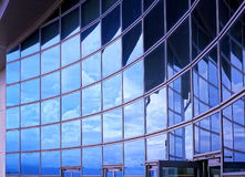 Modern Building Facade with Reflection stock photography