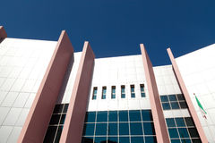 Modern building facade wall Royalty Free Stock Images