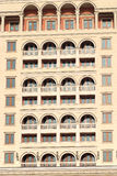 Modern building facede with arc balconies Stock Images