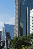 Modern building in Faria Lima Avenue, in Sao Paulo Royalty Free Stock Photography