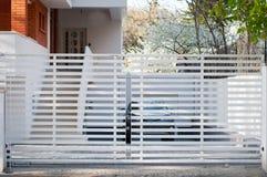 Modern building gates Stock Photo