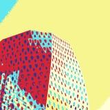 Modern building detail in pop art style. Modern building geometric detail in pop art poster style vector illustration