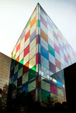 Modern building with glass colorized walls Royalty Free Stock Image